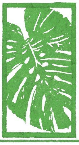 Caspari Paper Hand Towels Party Supplies Tropical Decor Hawaiian Luau Leaves Green Pk 30