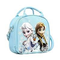Bolsa de almuerzo congelada de Disney con bolsa con correa para el hombro y botella de agua (NIEVE AZUL)