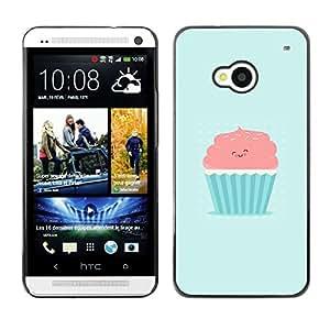 Stuss Case / Funda Carcasa protectora - ROSA LINDO Y MAGDALENA AZUL - HTC One M7