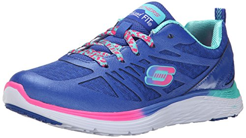 Skechers Kids Valeris Firelite Sport Sneaker (Little Kid/Big Kid) Blue/Pink