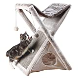 Trixie Pet Products 44771 Miguel Fold and Store Cat Tower, Light Gray