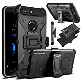 zte zmax swivel clip - ZTE Blade Z Max Case, ZTE ZMax Pro 2 Case, ZTE Sequoia Case, Venoro Heavy Duty Armor Shockproof Rugged Protection Case Cover with Belt Swivel Clip and Kickstand for ZTE Z982 (Black)