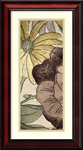 Earthtone Floral Panel - Framed Art Print 'Earthtone Floral Panel IV' by Catherine Kohnke
