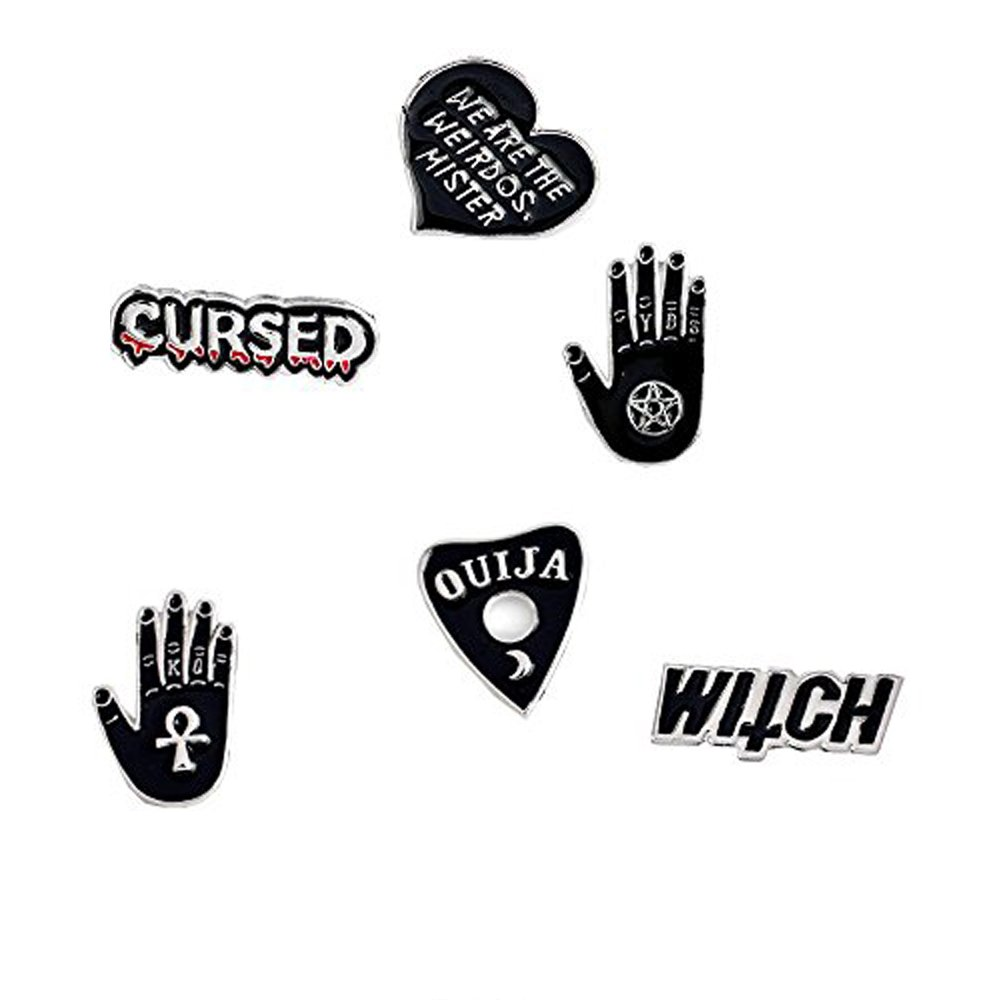 DoubleChin 6 Piece Set Witch Pins