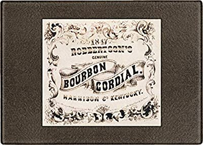 AnArtfulShop : Tempered Glass Cutting Boards. 2 Sizes, 19th Century Image of Robbertson's Bourbon Cordial Advertisement. Kentucky (8.25x11)