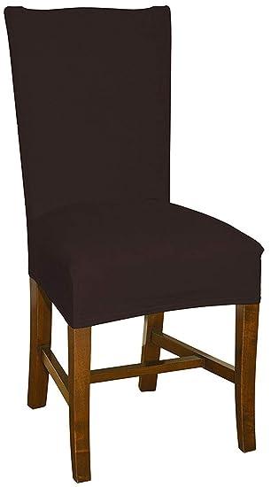 Bellboni Fundas para sillas, Fundas Elásticas, Cubiertas para sillas, Chocolate: Amazon.es: Hogar