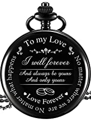 Pangda Pocket Watch to Husband Wife Boyf...