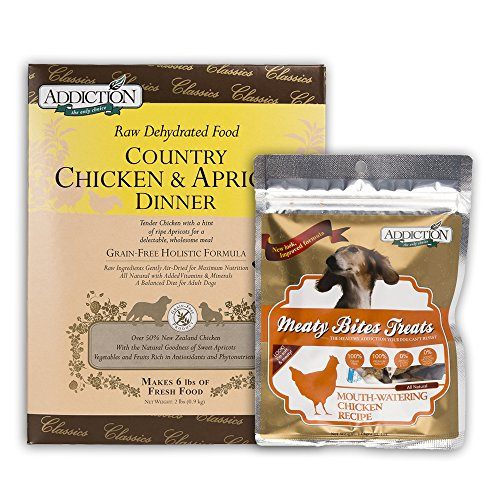 Country Chicken & Apricot Dinner (Dog) 2lbs / Meat Bite 4oz Bundle