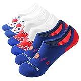 WANDER No Show Socks 7 Pack Cotton Non Slip Low Cut Invisible Loafer Socks Men&Women Boat Liner 10-12