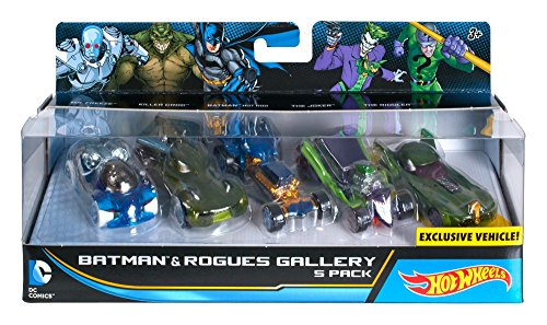 Hot Wheels DC Comics Batman and Rogues Gallery Vehicle, 5 Pa