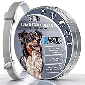 LOVATIC Flea and Tick Prevention Collar for Dogs