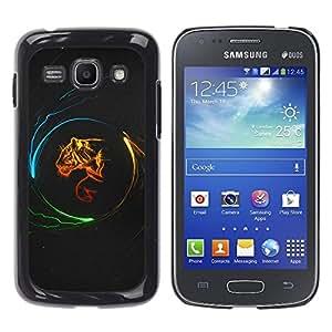 Paccase / SLIM PC / Aliminium Casa Carcasa Funda Case Cover - Design Tiger Power - Samsung Galaxy Ace 3 GT-S7270 GT-S7275 GT-S7272