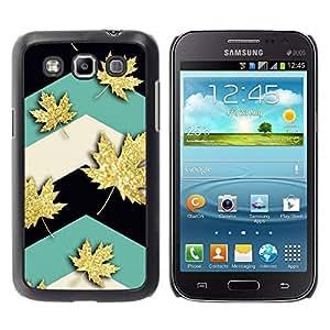 Paccase / SLIM PC / Aliminium Casa Carcasa Funda Case Cover para - Maple Leaf Canada Teal - Samsung Galaxy Win I8550 I8552 Grand Quattro