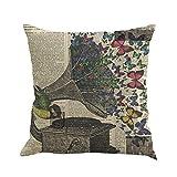 always cool pillow - Butterfly Throw Pillow Cases, Kimloog Square Flax Cushion Cover Car Sofa Home Decorative 18 x 18 Pillowcase (E)