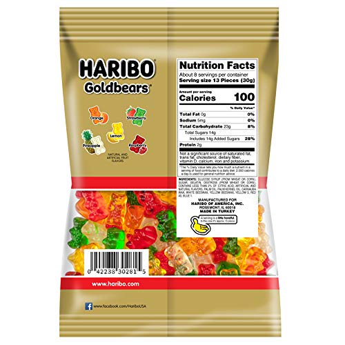 Haribo Goldbears Gummi Candy, 8 oz. Bag (Pack of 10) by Haribo (Image #1)