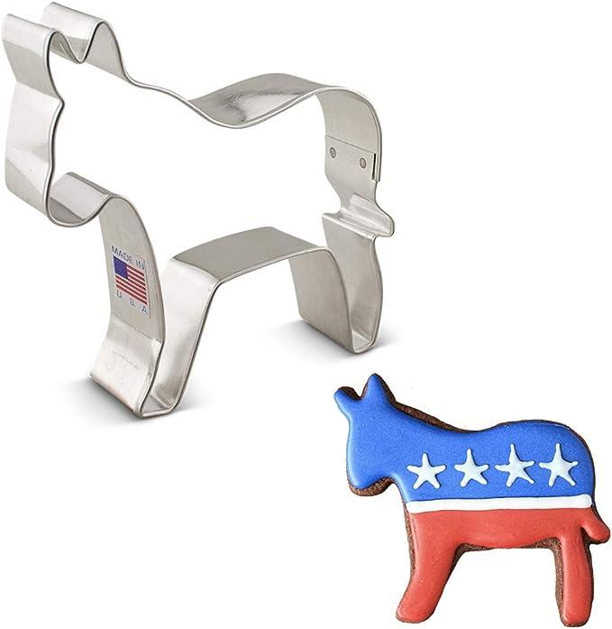 Donkey Cookie Cutter Democrat Gifts Set 2 Kitchen Towels Vote 2020 Sticker