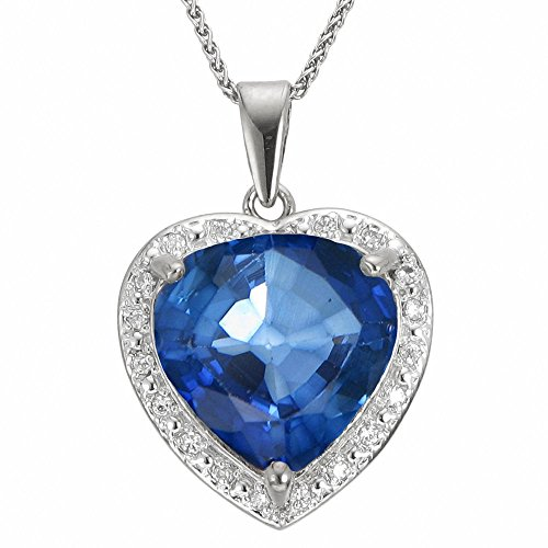 Vir Jewels Women's Created Sapphire Pendant 5.50 CT, Blue