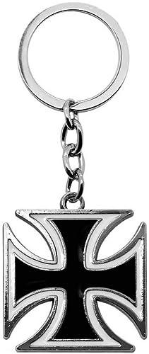 Tumundo Schlüssel Anhänger Eisernes Kreuz Mit Geschenk Etui Iron Cross Anhänger Schlüsselband Schlüssel Weiß Rot Schwarz Variante Schwarz Schmuck