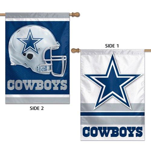 WinCraft NFL Dallas Cowboys 2 Sided Vertical Flag, 28 x 40