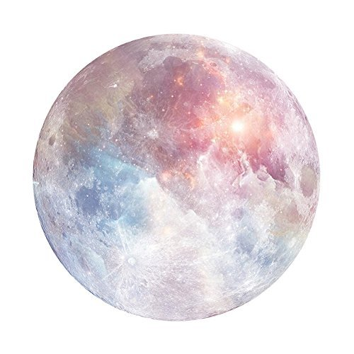 HaloVa Mouse Pad, Anti Slip Planet Mouse Mat for Desktops, Computer, PC and Laptops, Customized Round Mouse Pad for Office and Home, Moon