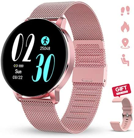 Smartwatch for Women GOKOO Smartwatches with Heart Rate Sleep Monitor All-Day Activity Tracker Steps Distance Calories Burned Music Remote Camera Control Notifications Customize Dial Smart Watch