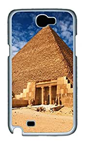 Samsung Note II Case Pyramid Entrance PC Custom Samsung Note 2 Case Cover White