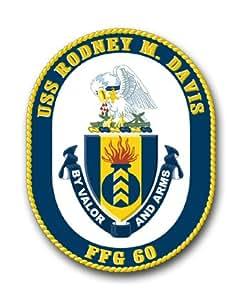 "US Navy Ship USS Rodney M. Davis FFG-60 Decal Sticker 5.5"""
