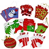 Iconikal Cardstock Tie-On Gift Tags 70-Count, Christmas