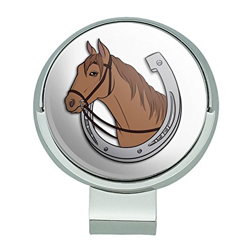 - GRAPHICS & MORE Brown Horse in Horseshoe Golf Hat Clip with Magnetic Ball Marker