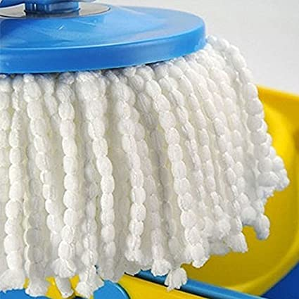 attachmenttou Practical 360 degrees Rotating Microfiber Spinning Magic Floor Bucket Mop Heads Household Supplies Tools Kicode