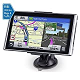 Portable Car GPS Navigation, 7 inch 8GB Spoken Turn-by-Turn Voice Prompt GPS Navigator with Lifetime Maps and Built-in Multi-Media and FM