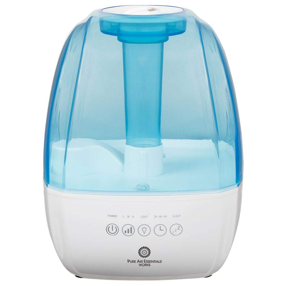 Pure Air Essentials Works Cool Mist Luxury Ultrasonic Humidifier, Moisturizes Air, Features Adjustable Mist Options