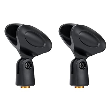 2-Pack Large Microphone Clips for all Handheld Transmitters such as Sm57  Sm58 Sm86 Sm87