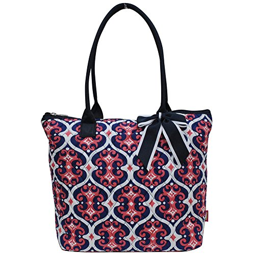 Ngil Quilted Cotton Medium Tote Bag 2018 Spring Collection (Classy Vine Navy)