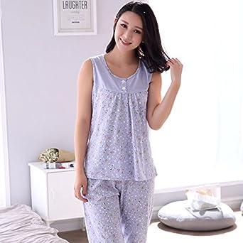 Amazon.com  MH-RITA Plus Size M-4Xl 100% Cotton Women Pajamas Set ... 9fc2567e1