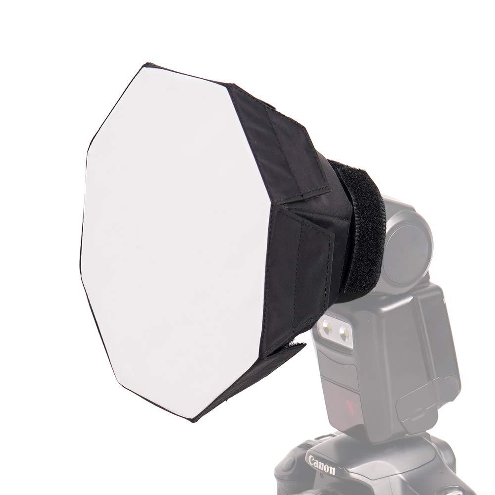 FOTOCREAT 7Inch( 18cm) Mini Round Flash Diffuser Light Softbox for Nikon/Canon/Sony/YongNuo/Bower/Metz/Nissin/Pentax/Sigma/Vivitar/Sunpack Speedlite by FOTOCREAT
