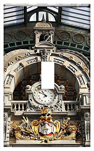 Switch Plate Single Toggle - Architecture Concourse Clock Railway -