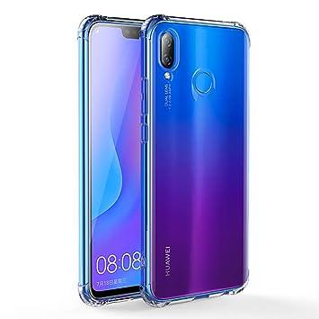 Huawei P Smart Plus Funda, FoneExpert® Transparente Clear Carcasa Cover Case Funda de Gel TPU Silicona para Huawei P Smart Plus/Huawei Nova 3i