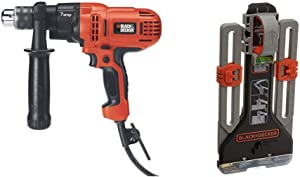BLACK+DECKER Electric Drill, 1/2-Inch, 7.0 Amp with MarkIT Picture Hanging Kit (DR560 & BDMKIT101C)
