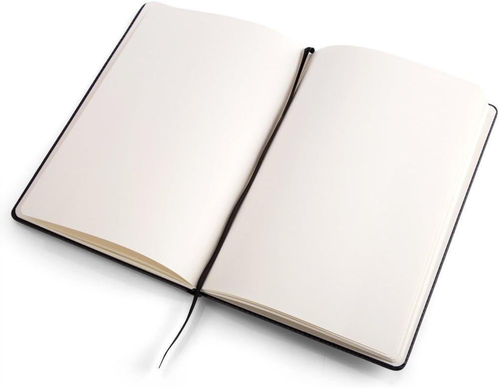 A.P Donovan libro vuoto per scrivere pulita Guida di viaggio Nero Ricettario Ricettario Notepad in pelle Art A5 diario A5