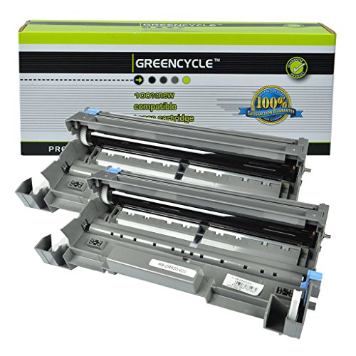 (GREENCYCLE High Yield Drum Unit Replacement for Brother DR620 DR-620 (Black),25K Pages, Compatible to DCP-8050DN DCP-8080DN DCP-8085DN HL-5340D MFC-8370 MFC-8480DN Printers,(2PK DR620 Drum))