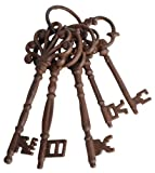 Esschert Design DB63 Set of Large Cast Iron Keys on Ring