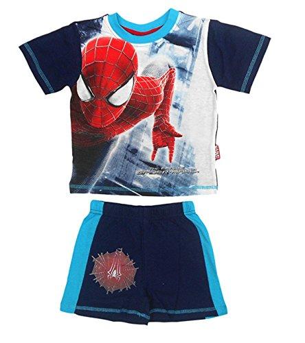 Marvel Spiderman Boys Dark Blue Short Sleeve Top and Short Set Age 8 Years