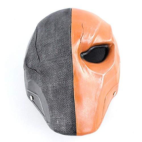 LXIANGP Horror Arrow Man Mourning mask cos Halloween Dress Theme Fancy Dress Party Resin mask