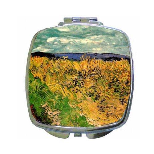 Cornflower Mirror (Wheat Field With Cornflowers By Vincent Van Gogh Compact Mirror)