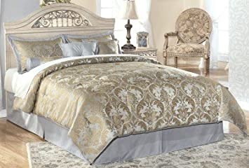 ashley furniture signature design catalina panel headboard queenfull faux marble accents
