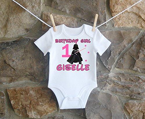 Darth Vader Birthday Shirt, Darth Vader Birthday Shirt For Girls, Personalized Girls Darth Vader Birthday Shirt, Customized Darth Vader Birthday Shirt by Lil Lady Treasures