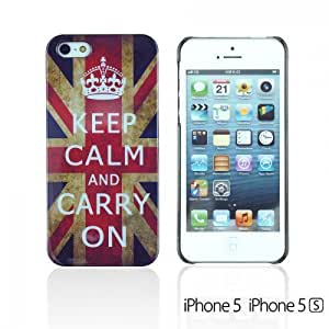 OnlineBestDigital - Designer Hard Case Cover for Apple iPhone 5S / Apple iPhone 5 - Keep Calm and Carry On