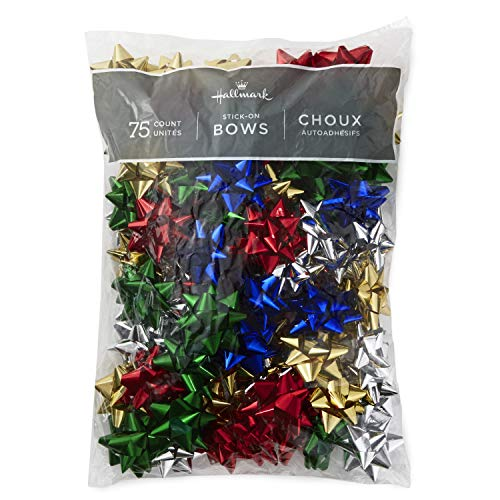 Hallmark Holiday Bow Assortment (5 Colors, 75 Bows)