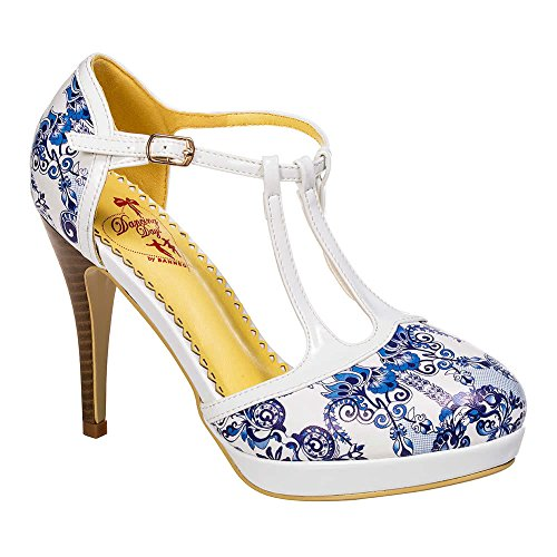 Femmes Interdites Tout Ce Que Je Fais Est Rêver Chaussures À Talons Hauts (blanc / Bleu)